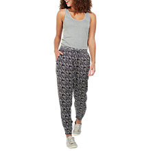 Buy Fat Face Tribal Print Trousers, Phantom Online at johnlewis.com