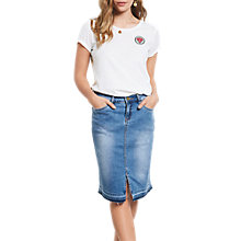 Buy hush Denim Pencil Skirt, Denim Online at johnlewis.com