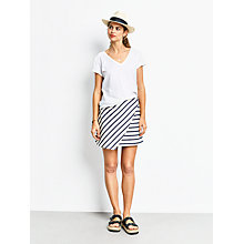 Buy hush Athens Wrap Skirt, Ecru/Navy Online at johnlewis.com