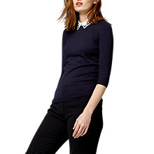 Buy Warehouse Embellished Collar Jumper Online at johnlewis.com
