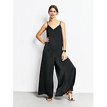 Buy hush Amalfi Jumpsuit, Black Online at johnlewis.com
