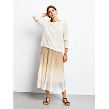 Buy hush Ombre Pleated Skirt, Latte/Ecru Online at johnlewis.com