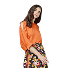 Buy Warehouse Slash Sleeve Top, Orange Online at johnlewis.com
