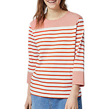 Buy Warehouse Engineered Stripe Top Online at johnlewis.com