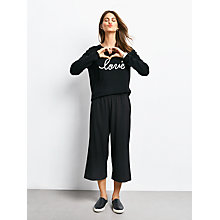 Buy hush Devin Culottes, Black Online at johnlewis.com