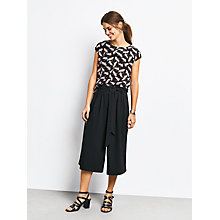 Buy hush Madison Culottes, Black Online at johnlewis.com