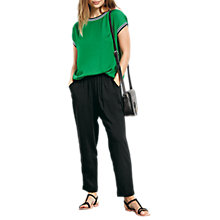 Buy hush Cropped Relaxed Trousers, Black Online at johnlewis.com
