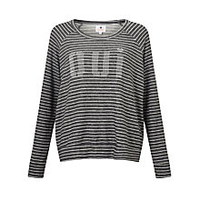 Buy Sundry Oui Cropped Stripe Jumper, Heather Grey Stripes Online at johnlewis.com
