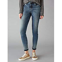 Buy Pieces Five Abby Skinny Jeans, Medium Blue Online at johnlewis.com