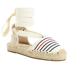 Buy Soludos Striped Gladiator Flatform Sandals, Multi Online at johnlewis.com
