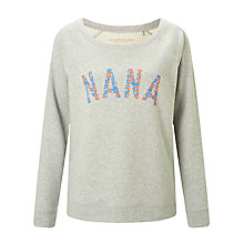 Buy Selfish Mother Nana Scoop Neck Sweatshirt, Grey/Neon & Pale Blue Floral Online at johnlewis.com