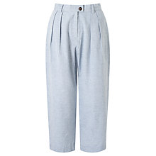 Buy People Tree Loose Fit Trousers, Blue Online at johnlewis.com