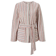 Buy People Tree Collette Belted Jacket, Multi Online at johnlewis.com