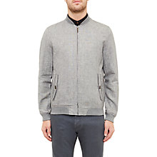 Buy Ted Baker Rollin Linen-Blend Bomber Jacket Online at johnlewis.com
