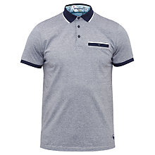 Buy Ted Baker Swimway Striped Cotton Polo Shirt, Navy Online at johnlewis.com