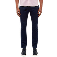 Buy Ted Baker Curly Stretch Cotton Trousers, Navy Online at johnlewis.com
