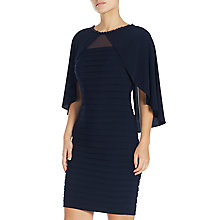 Buy Adrianna Papell Matte Crepe Dress, Blue Moon Online at johnlewis.com