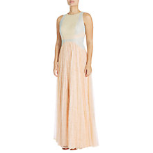 Buy Adrianna Papell Block Lace Evening Gown, Apricot Cream/Multi Online at johnlewis.com