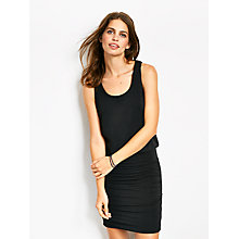 Buy hush Tara V-Neck Vest Dress, Black Online at johnlewis.com