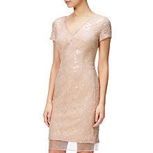 Buy Adrianna Papell Plus Size Sequin Cocktail Dress, Blush/Nude Online at johnlewis.com
