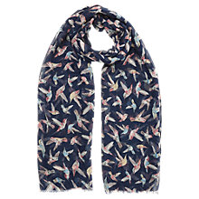 Buy Oasis Hummingbird Scarf, Navy Online at johnlewis.com