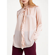 Buy Winser London Silk Ruffle Shirt, Blush Online at johnlewis.com