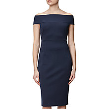 Buy Adrianna Papell Petite Off Shoulder Fitted Dress, Blue Moon Online at johnlewis.com