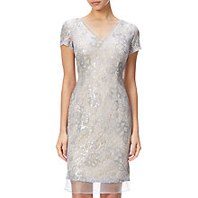 Buy Adrianna Papell Sequin Lace And Organza Cap Sleeve Cocktail Dress Online at johnlewis.com