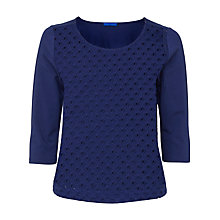Buy Winser London Broderie Anglaise Top, Moonlight Online at johnlewis.com
