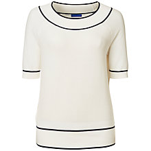 Buy Winser London Cotton Bardot Short Sleeve Knitted Top Online at johnlewis.com