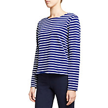 Buy Winser London Striped Long Sleeve T-Shirt, Winser Blue/White Online at johnlewis.com