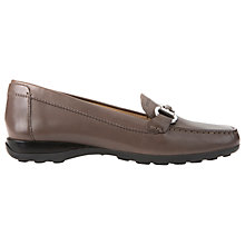 Buy Geox Euro Buckle Slip On Loafers, Taupe Online at johnlewis.com
