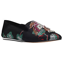 Buy KG by Kurt Geiger Opal Slipper Pumps, Black/Other Online at johnlewis.com