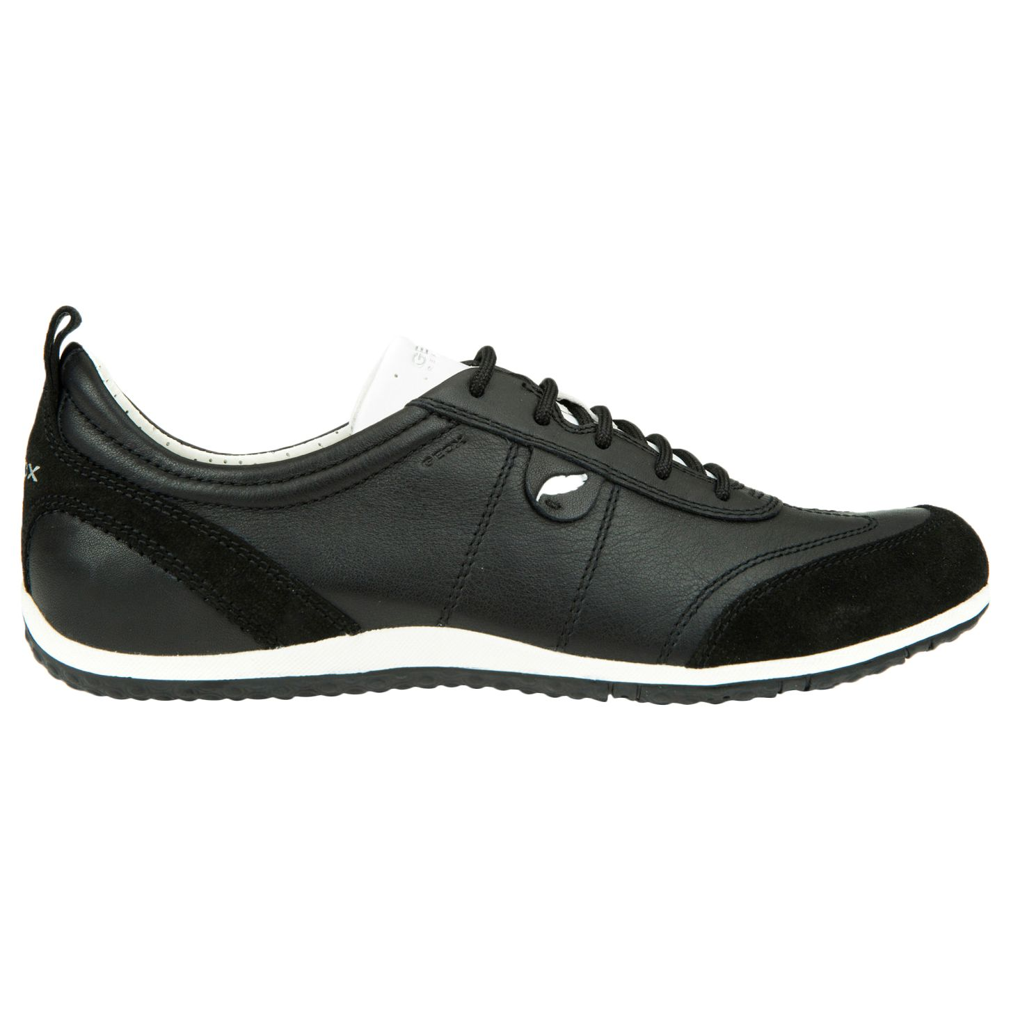 Geox Geox Vega Leather Lace Up Trainers