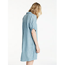 Buy AND/OR Denim Look Shirt Dress, Mid Blue Online at johnlewis.com