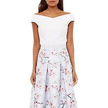 Buy Ted Baker Teimah Bardot Top, White Online at johnlewis.com