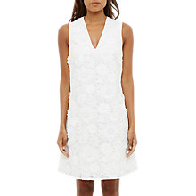 Buy Ted Baker Soniah V Neck Applique Dress, White Online at johnlewis.com