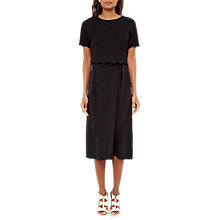 Buy Ted Baker Agney Wrap Front Culottes, Black Online at johnlewis.com