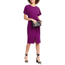 Buy Oasis Drape Belted Wiggle Dress, Bright Pink Online at johnlewis.com