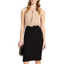 Buy Phase Eight Naima Two Tone Dress, Nude/Black Online at johnlewis.com