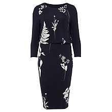 Buy Phase Eight Conway Print Dress, Navy/Ivory Online at johnlewis.com