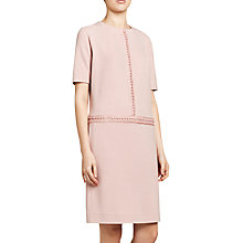 Buy Winser London Crochet Trim Dress, Blush Online at johnlewis.com