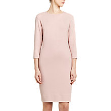Buy Winser London Crepe Jersey Fitted Dress, Blush Online at johnlewis.com