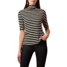 Buy Hobbs Ferne Top, Navy/Khaki/Pink Online at johnlewis.com