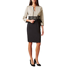 Buy Hobbs Rebecca Satin Jacket, Beige/Black Online at johnlewis.com