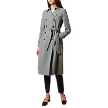 Buy Hobbs Arabelle Trench, Soft Grey Online at johnlewis.com