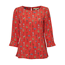 Buy White Stuff Floral Spring Top, Spring Red Online at johnlewis.com