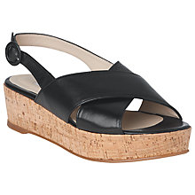 Buy L.K. Bennett Klara Cross Strap Flatform Sandals Online at johnlewis.com