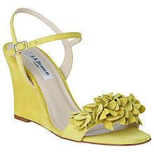 Buy L.K. Bennett Catherine Ruffle Wedge Heeled Sandals, Lime Online at johnlewis.com