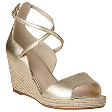 Buy L.K. Bennett Nellie Wedge Heeled Sandals, Gold Online at johnlewis.com
